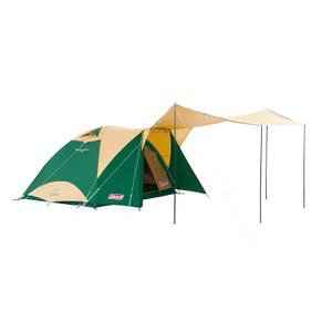 大きなタープで開放感のあるリビングを作れる2ルームテント☆