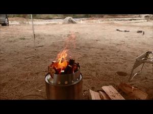 SOLO STOVEタイタンが楽しい焚き火をかなえてくれます