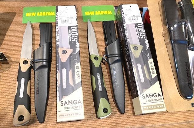 新商品、アウトドアナイフ。